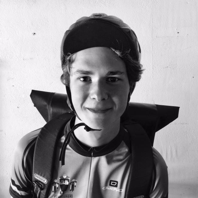 portretfoto fietskoerier boaz kuizenga