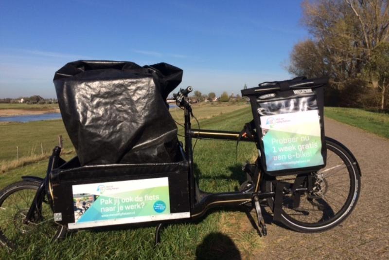 foto reclame op de fiets voor cleantech regio